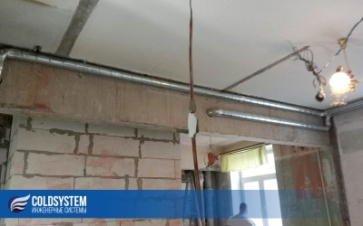 Монтаж приточной вентиляции в квартире