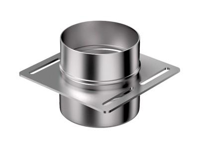 Опора под одноконтурную трубу нержавеющая зеркальная 1,0 мм